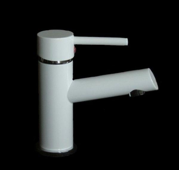 Einhebel-Waschtischarmatur Waschbecken Wasserhahn Bad Armatur Weiß