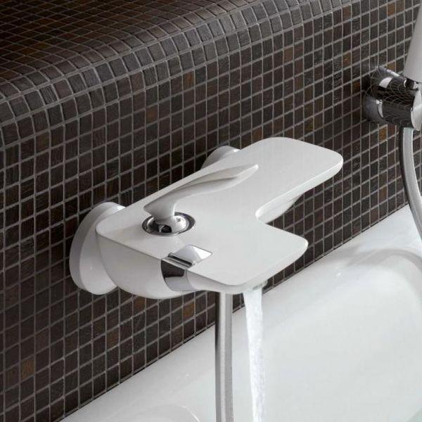 Kludi Einhebel Badewannenarmatur Wannen Bad Armatur Batterie Weiß 524459175