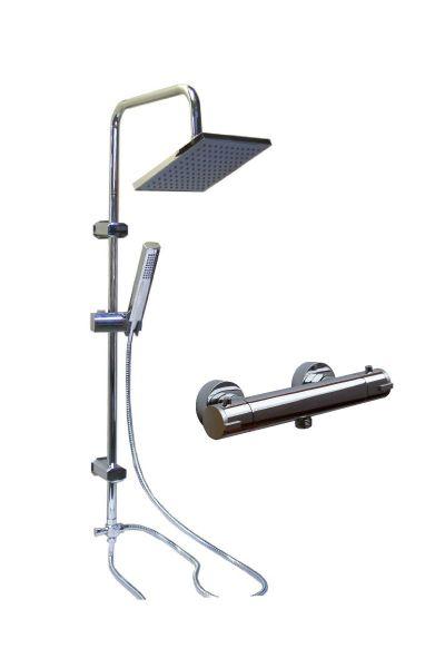 berkopfbrause brause duschs ule dusche mit thermostat tokyo wagner armaturenwelt. Black Bedroom Furniture Sets. Home Design Ideas