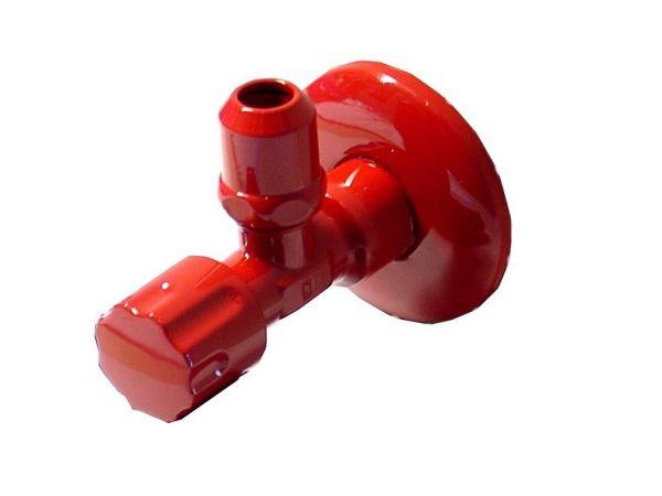 Eckventil Ventil 1/2 Zoll Wand, 3/8 Zoll Anschluss, rot