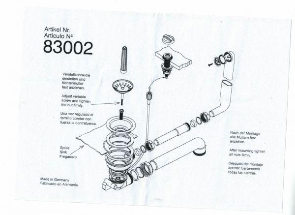 Teka Ablaufgarnitur mit Excenterbetätigung 83002