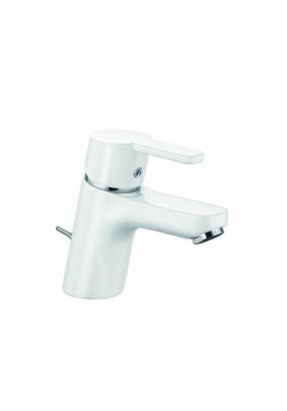 Kludi Waschtischarmatur Waschbecken Bad Armatur weiß/chrom Logo Neo-y