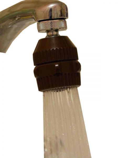 Spülbrause-Strahlregler/Wasserfix braun