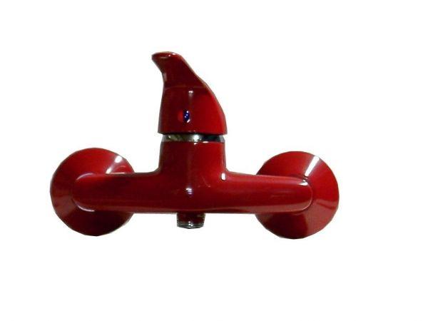 Einhebel Dusche Bad Armatur rot Batoni