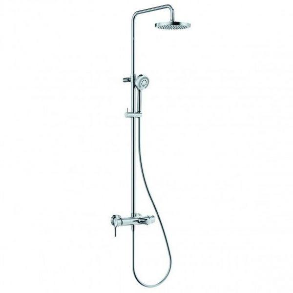 KLUDI LOGO EHM Dual Shower System mit Wannenarmatur chrom 6808305-00