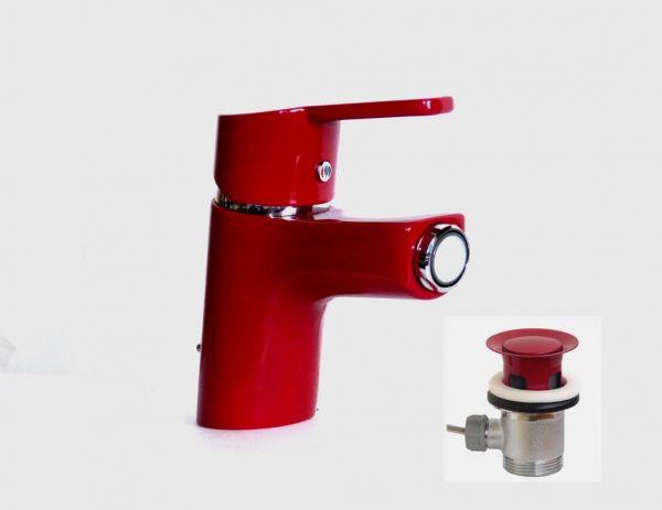 Kludi Einhebel Bidetarmatur Bidet Bad Armatur Logo Neo 375339175 Rot/chrom
