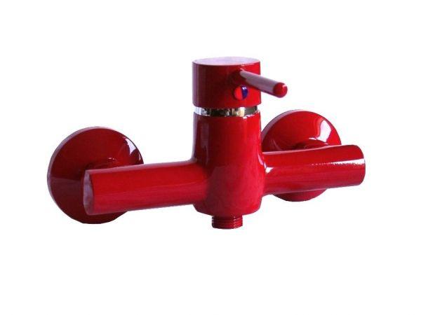 Einhebel Dusche Brause Bad Armatur Rot