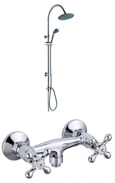 Überkopfbrause Set Wellnes Brause Duschsäule Easy Relax! mit Armatur
