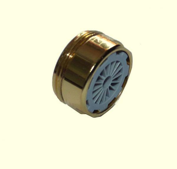 gold-farbige Mischdüse M 24 Außengewinde Niederdruck