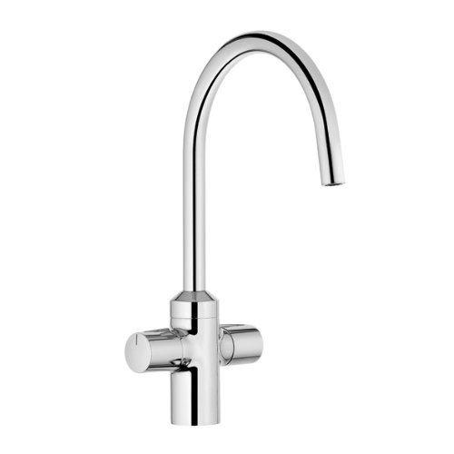 Zweigriff-Bajonett-Küchenarmatur für Unterfenster Montage Kludi chrom 428810532