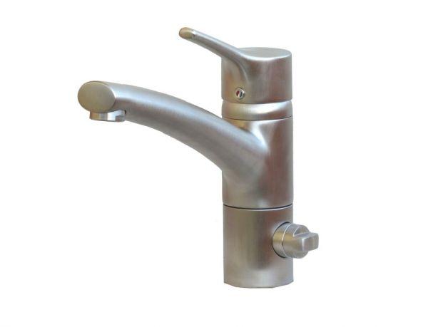 Kludi Küchenarmatur Spültisch Armatur Geräteanschluss TRENDO edelstahlfinish