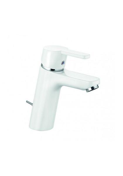 Kludi Waschtischarmatur Waschbecken Bad Armatur weiß/chrom Logo Neo